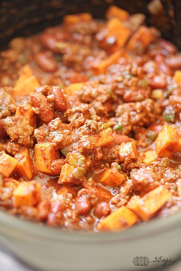 Slow Cooker Turkey Sweet Potato Chili